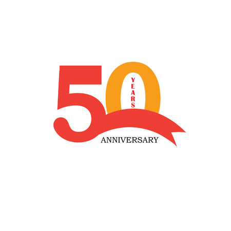 50 years anniversary. Celebration 50 years. 50 birthday.vector illustration.eps10. Çizim