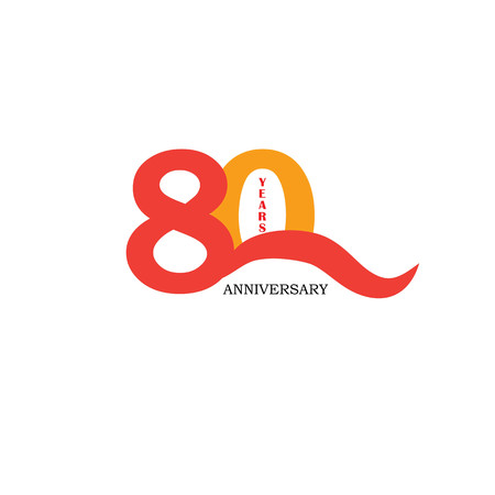 80 years anniversary. Celebration 80 years. 80 birthday.vector illustration.eps10.