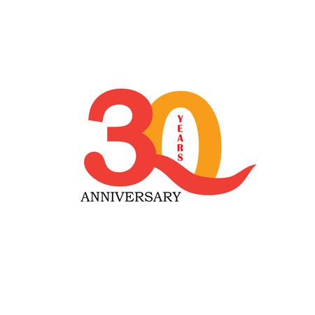 30 years anniversary. Celebration 30 years. 30 birthday.vector illustration.eps10. Stock Illustratie