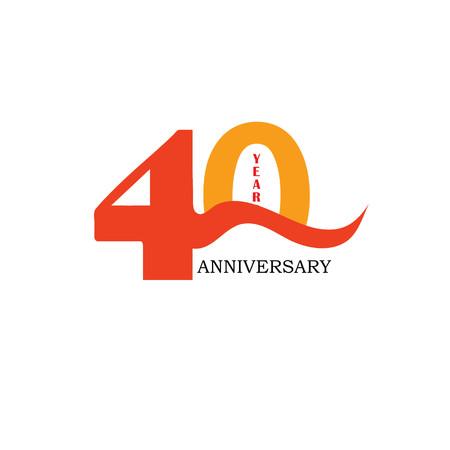 40: 40 years anniversary. Celebration 40 years. 40 birthday.vector illustration.eps10. Illustration