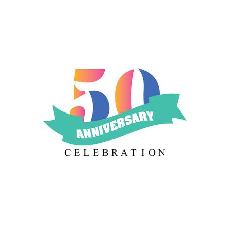 50 years anniversary: 50 years anniversary. Celebration 20 years. 50 birthday.vector illustration.eps10.