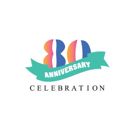 80 years: 80 years anniversary. Celebration 80 years. 80 birthday.vector illustration.eps10.