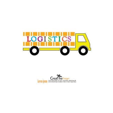 Logistique concept.vector illustration. Illustration