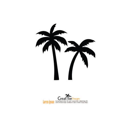 tree: coconut tree icon.vector illustration.eps10.