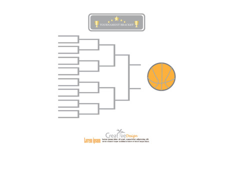 Blank Basketball Tournament Bracket Template Royalty Free Cliparts