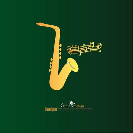 tenor: saxophone icon.vector illustration.