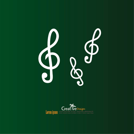 music note. vector illustration.