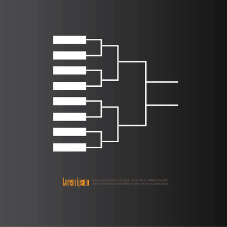 playoff: blank basketball tournament bracket on chalkboard.vector illustration. Illustration