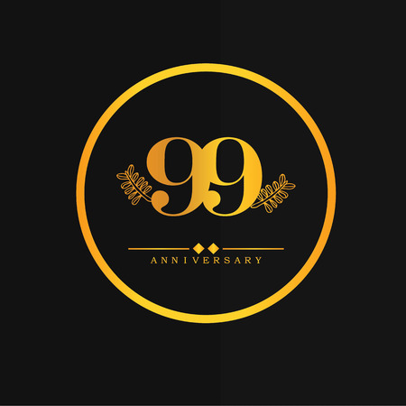 99: 99 years anniversary.vector illustration.eps10.