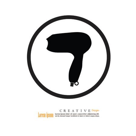 hairdryer: Hairdryer icon.hair salon sign.vector illustration.