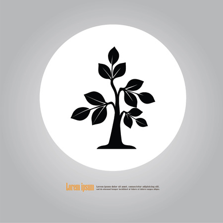 Tree icon. Vector illustration.