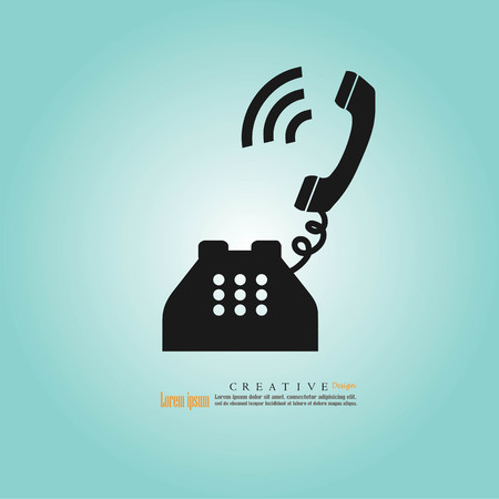 caller: A telephone icon vector illustration eps10. Illustration