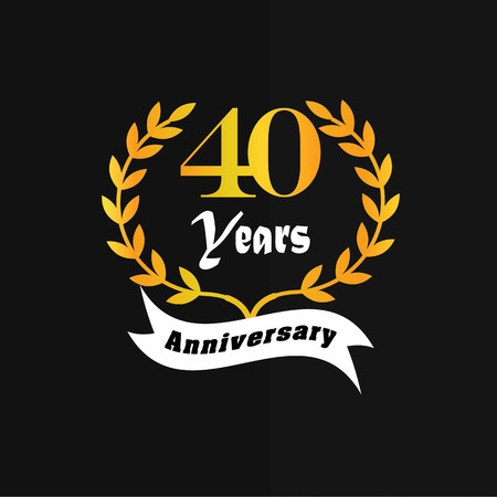40: 40 years anniversary.vector illustration.eps10. Illustration