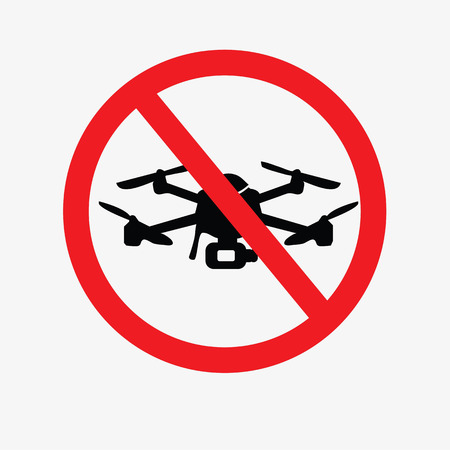prohibit drone sign.do not sign.vector illustration.