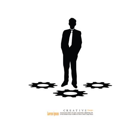 Businessman icon.vector illustration. Illustration
