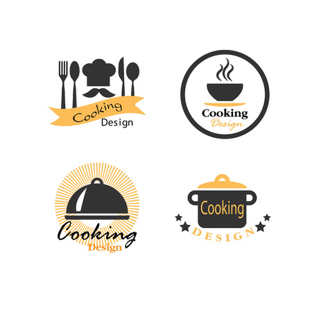 fine cuisine: Cooking icon illustration. Illustration