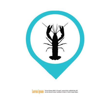 Crawfish icon.vector illustration. Illustration