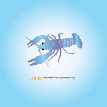 crawfish: Crawfish icon.vector illustration. Illustration