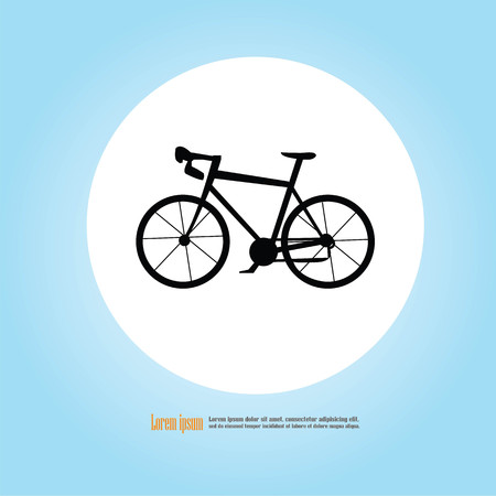 recreational pursuit: Bicycle icon vector on gray background.vector illustration. Illustration