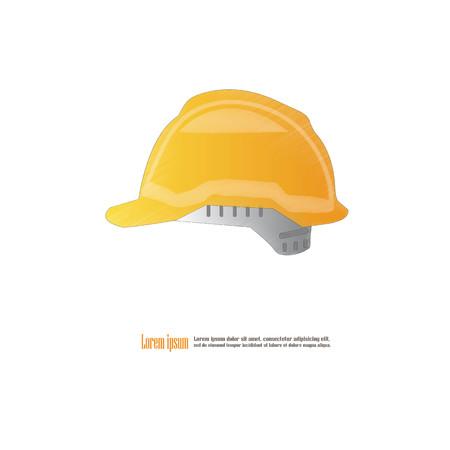 Engineer hat.hard hat icon.vector illustration.