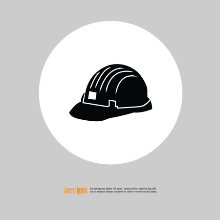 first house: Engineer hat.hard hat icon.vector illustration.