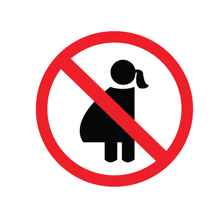 exclude: no pregnant woman sign.vector illustration symbol of danger for pregnant women.no entry.prohibit sign.vector illustration.