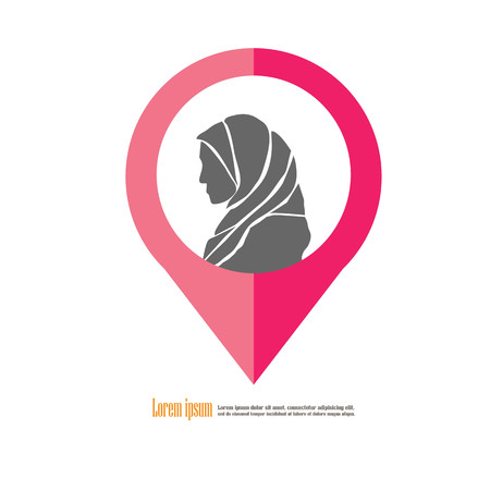 Muslim woman.vector illustration. Illustration
