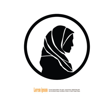 Muslim woman. Vector illustration. Illustration
