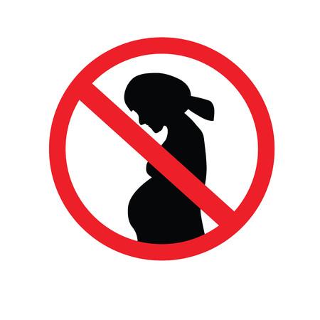Vector illustration symbol of danger for pregnant women. no entry. prohibit sign. vector illustration.