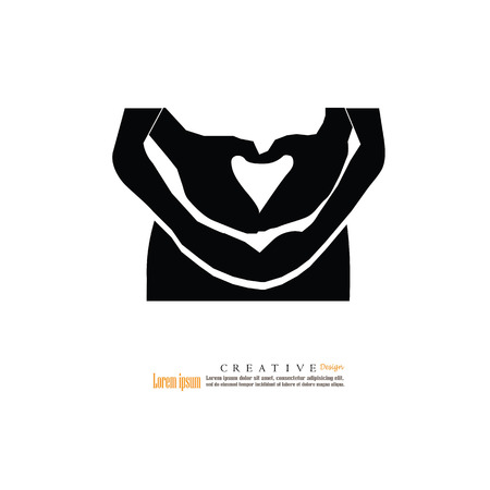 Pregnant woman with her hands on her belly.vector illustration. pregnant woman.vector illustration.