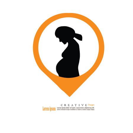 妊娠中の woman.vector の図。  イラスト・ベクター素材