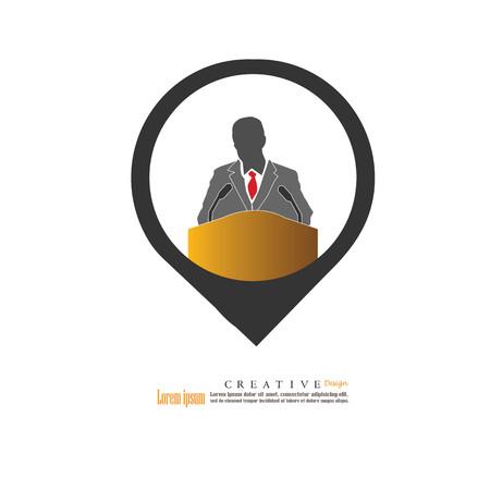 Man Speaking icon.man speaking.speaker.speech,speaker icon.speech icon. Vector illustration.
