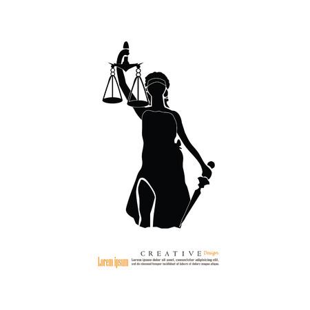 Lady of Justice.vector illustration. Illustration