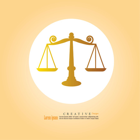 libra: Justice scales icon.vector illustration.