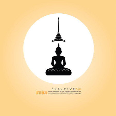 Thai Buddha.buddha.vector illustration.