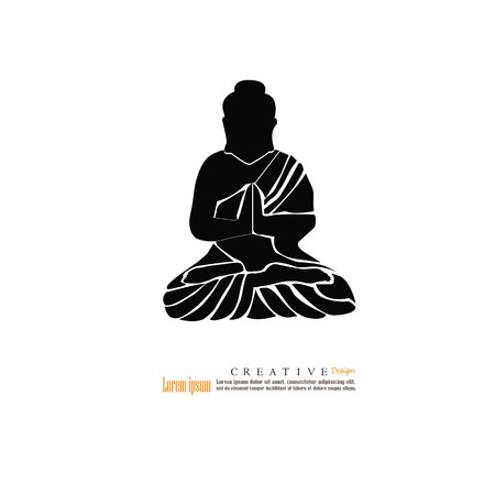 believes: Thai Buddha.buddha.vector illustration.