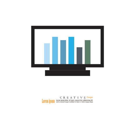 trackpad: computer screen with data.vector illustration.