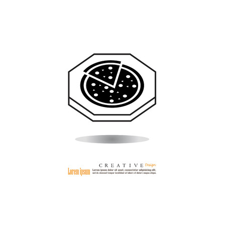 margherita: pizza icon.vector illustration.