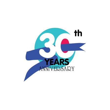 30 years anniversary.vector illustration.eps10. Stok Fotoğraf - 79735738
