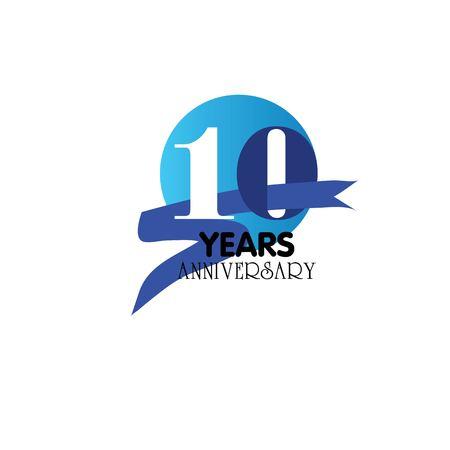 10 years anniversary.vector illustration.eps10.
