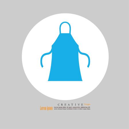 apron icon.apron.Kitchen apron. Vector illustration. Illustration