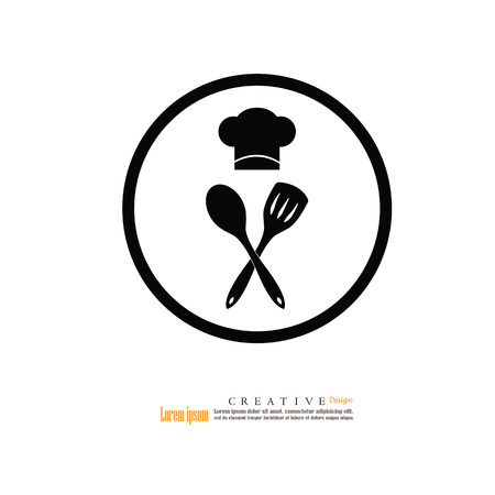 fine cuisine: Chef icon.Chef symbol.vector illustration.