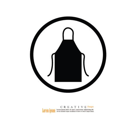 Delantal delantal icon.apron.Kitchen. Ilustración del vector. Foto de archivo - 80109542