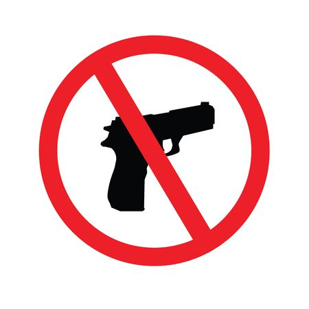 firearms: no gun sign.vector illustration.