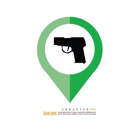 gun.gun icon.vector illustration.