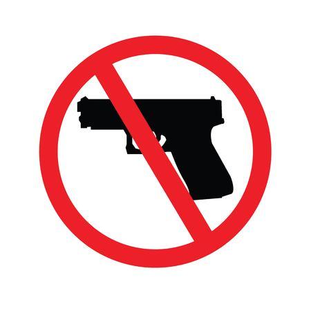 gun control: no gun sign.vector illustration.