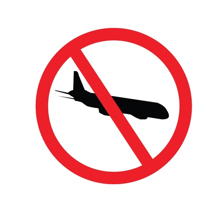 no gradient: No flying, prohibit sign vector Illustration