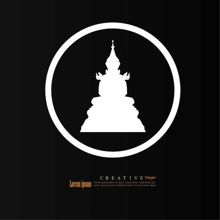 simple frame: Thai Buddha.buddha.vector illustration.
