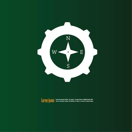 Compasses icon.vector illustration. Illustration