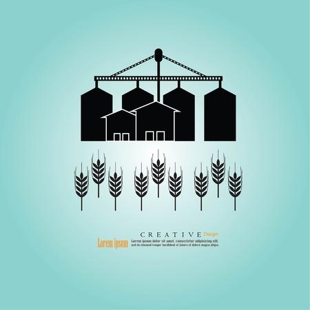 grain silo.silo.vector illustration. Vektoros illusztráció